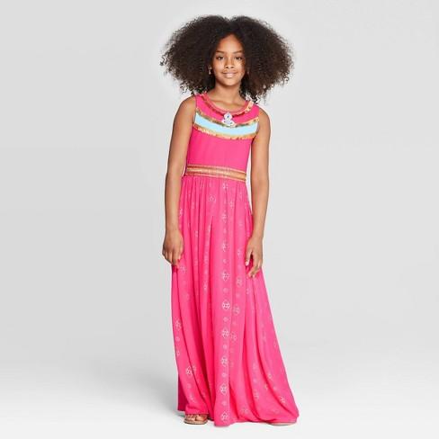 Girls' Aladdin Maxi Dress - Turquoise - image 1 of 4