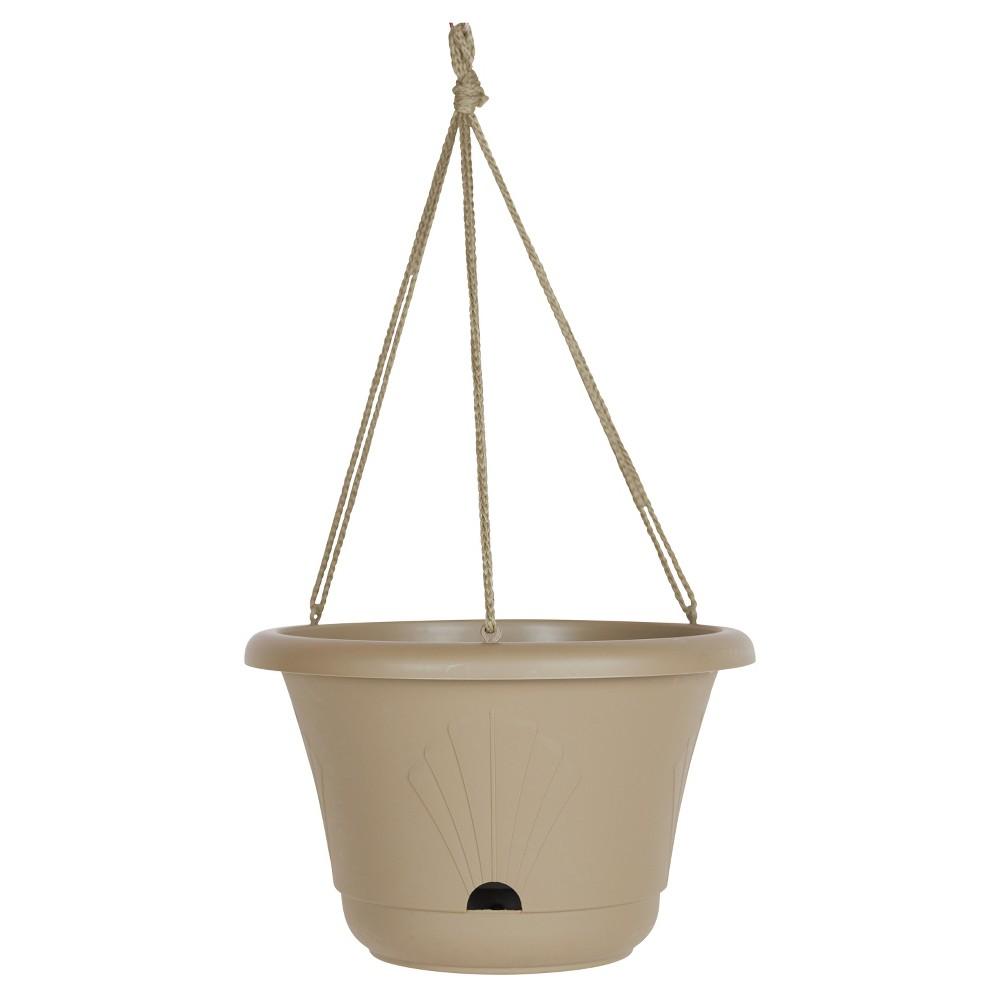 13 Lucca Self Watering Hanging Basket Taupe (Brown) Bloem