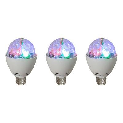 AudioPipe ZYB-13S Zebra Sound LED 5 Volt 1 Watt DC Motor Magic Disco Light Bulb (3 Pack)