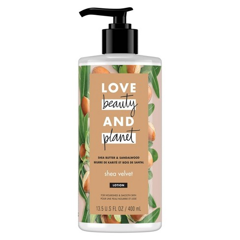 Love Beauty & Planet Shea Butter and Sandalwood Hand and Body Lotion - 13.5oz - image 1 of 4