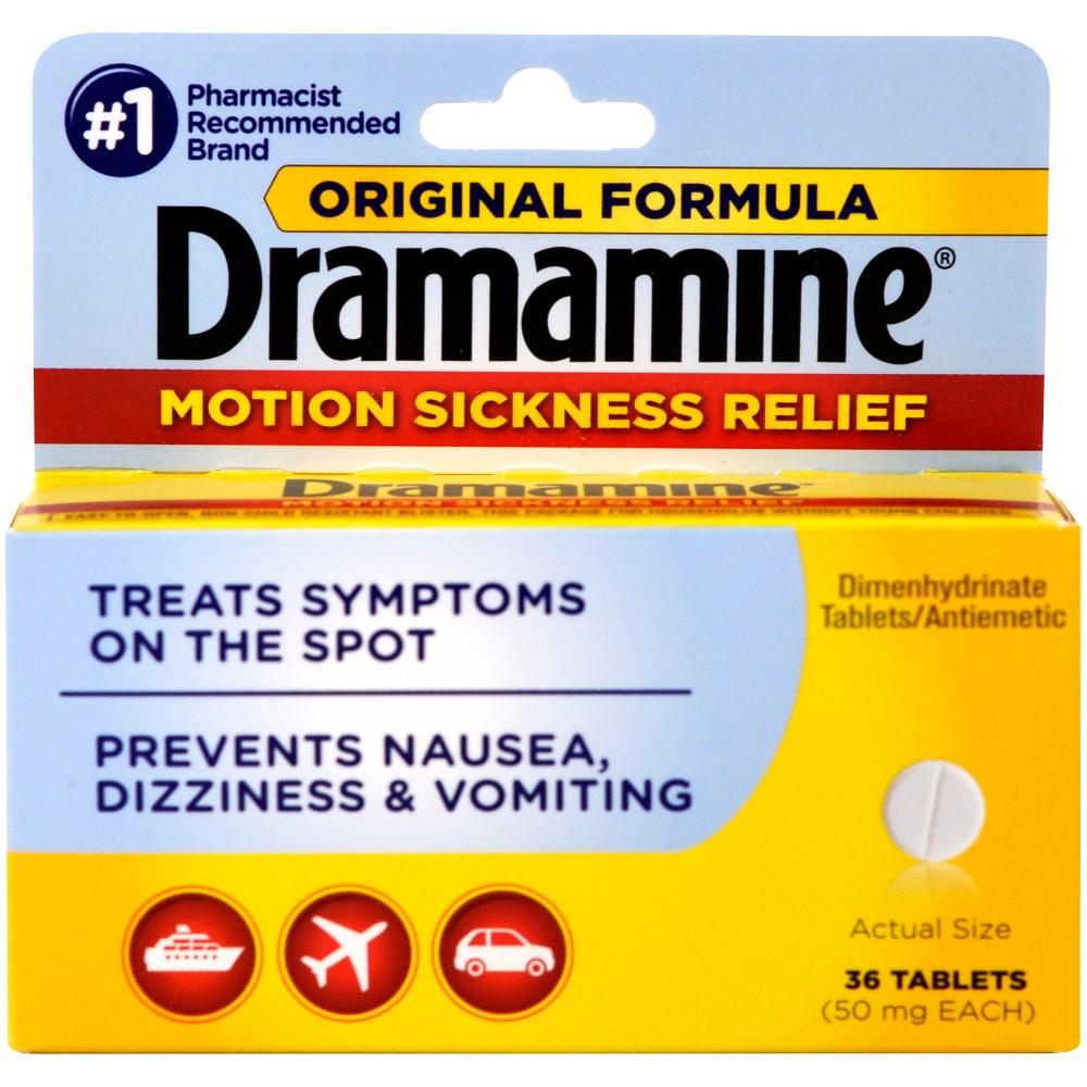Dramamine Motion Sickness Tablets - 36ct