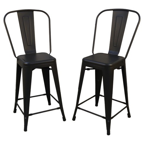 Fantastic 24 Sadie Set Of 2 Counter Stool Black Carolina Chair And Table Pdpeps Interior Chair Design Pdpepsorg
