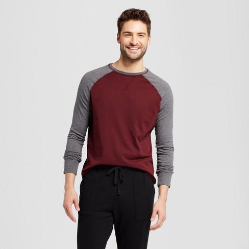 Men's Standard Fit Long Sleeve Raglan Color Block Crew T-Shirt - Goodfellow & Co™ - image 1 of 3
