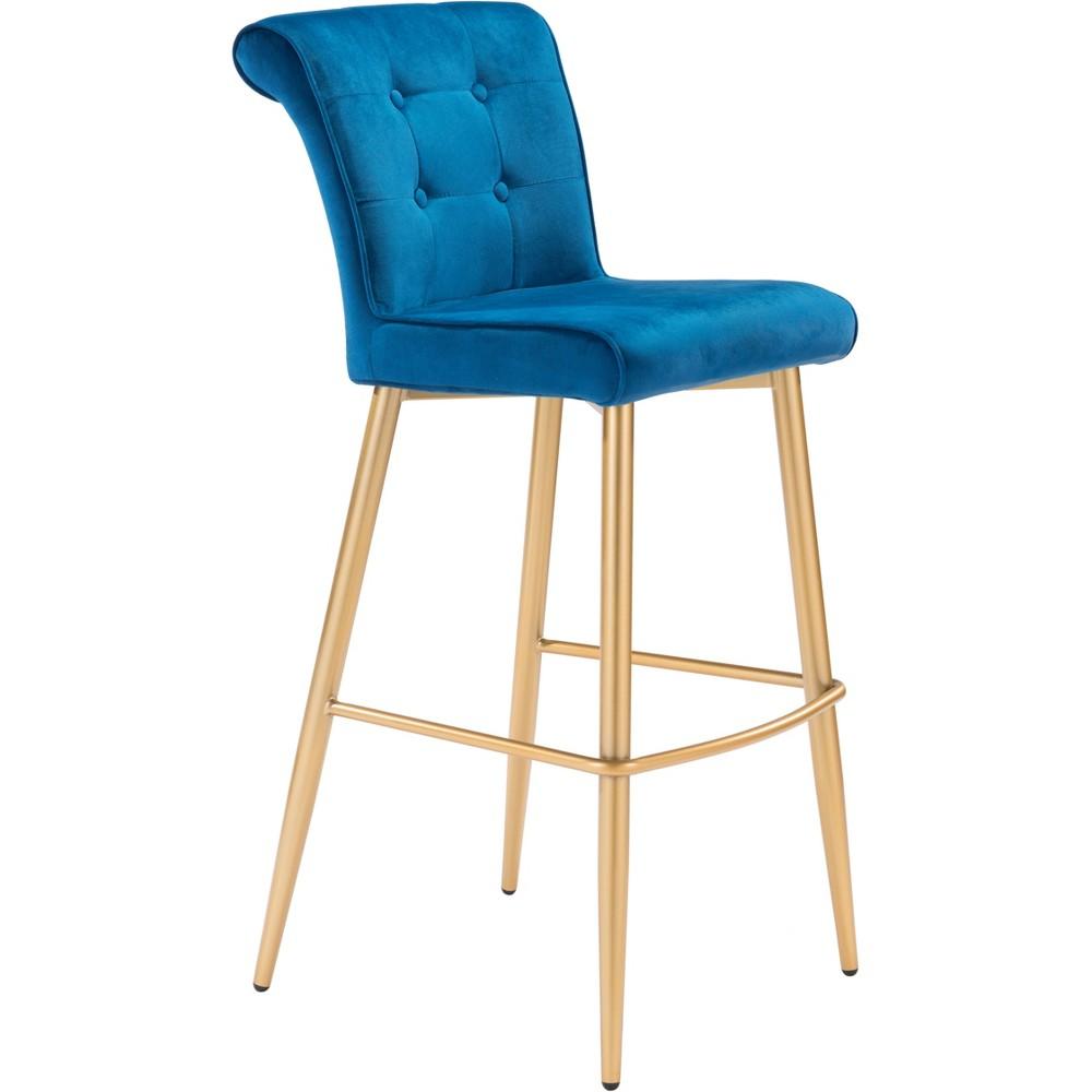 29.9 Modern Glam Bar Chair Blue - ZM Home