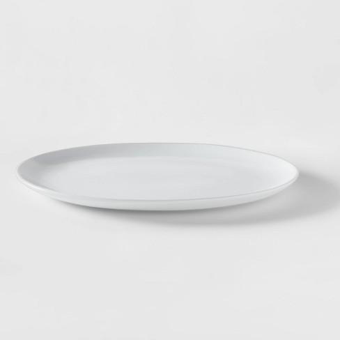 Oval Porcelain Serving Platter 15.5'' White - Threshold™ - image 1 of 3