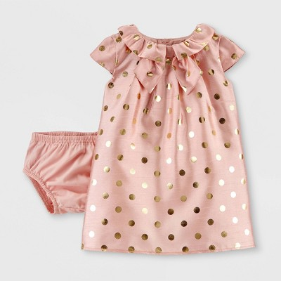 Baby Girls' Holiday Dot Dress - Just One You® made by carter's Peach 3M