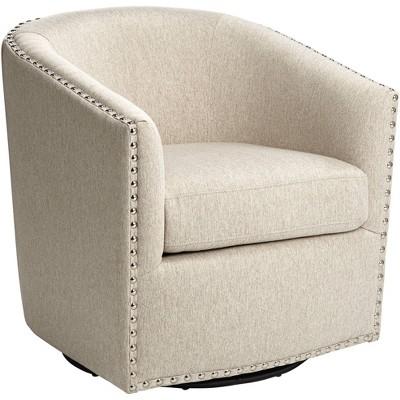 Studio 55D Fullerton II Oatmeal Swivel Accent Chair