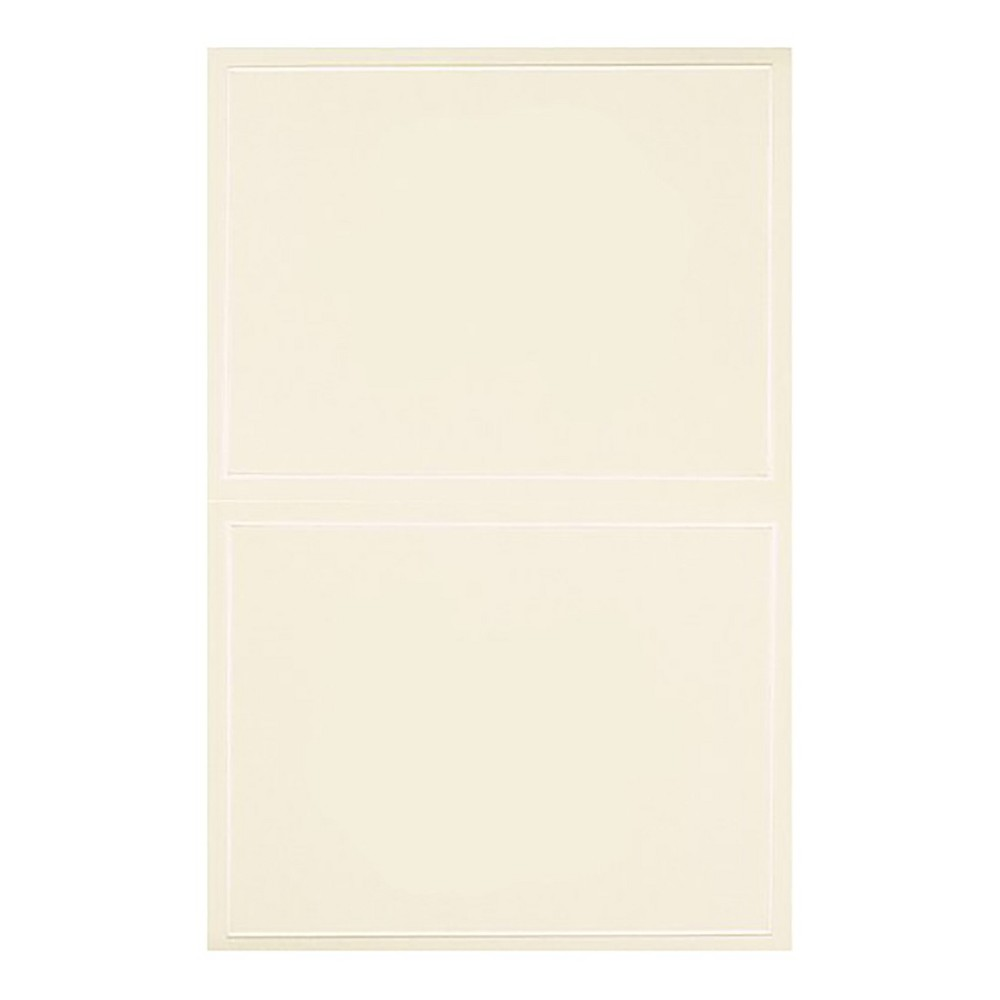 Blank All Occasions Greeting Cards with Envelopes (50ct) - Ivory This card pack has a gift-giving occassions theme and contains 50 cards. This vibrant card pack features a lovely shapes pattern. Color: Ivory.
