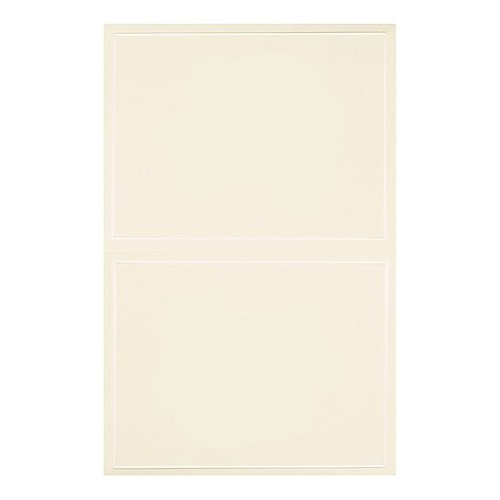 Blank All Occasions Greeting Cards with Envelopes (50ct) - Ivory