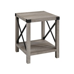"18"" Metal X Side Table - Saracina Home"
