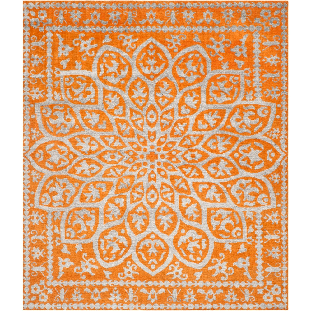 8'X10' Medallion Knotted Area Rug Copper/Light Gray - Safavieh, Brown