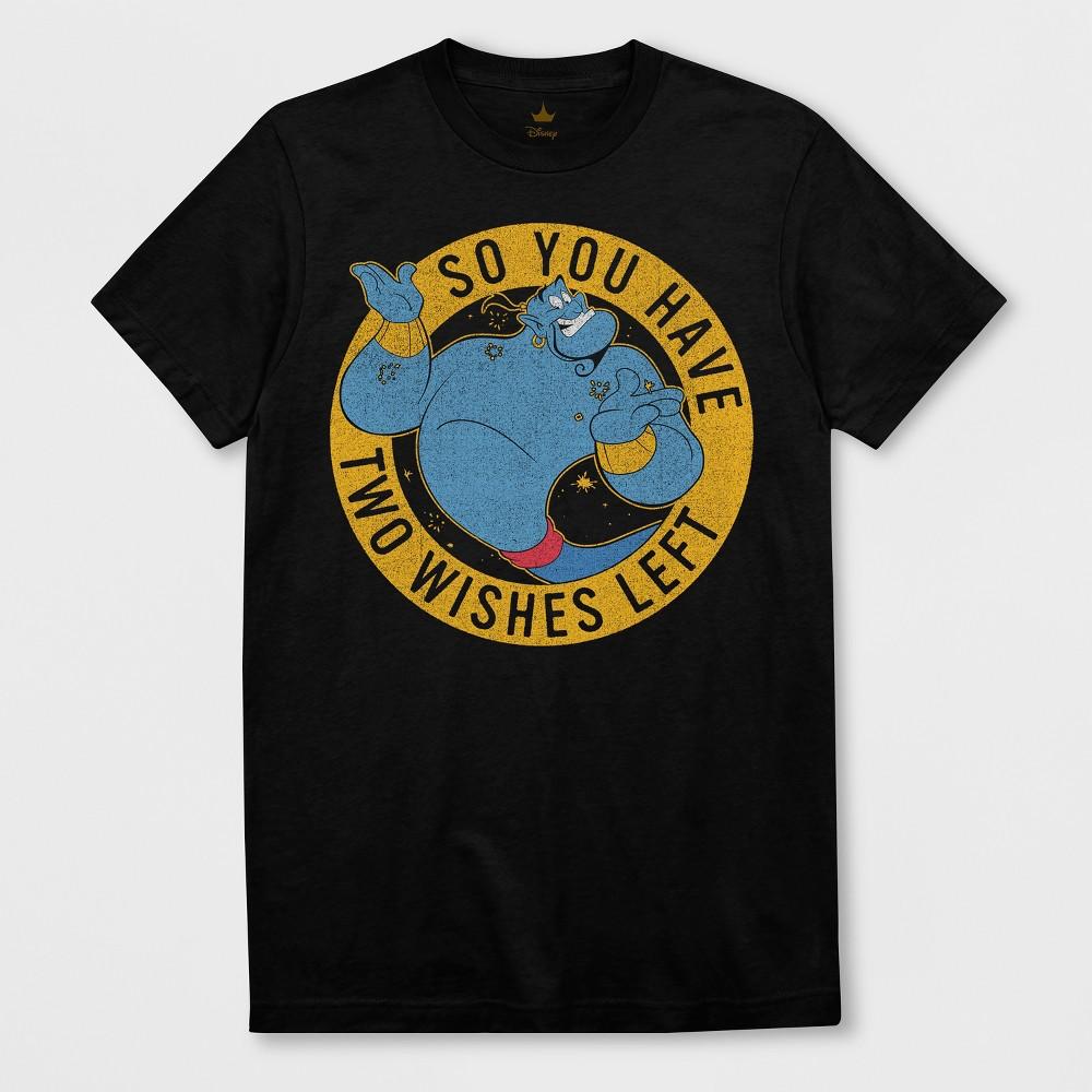 Men's Short Sleeve Disney Aladdin Genie T-Shirt - Black XL