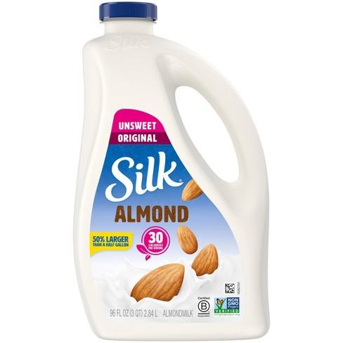 Silk Unsweetened Almond Milk - 96 fl oz - image 1 of 4