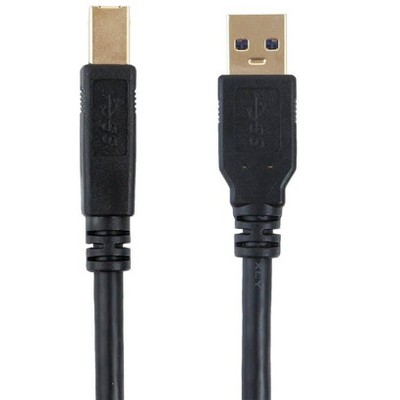 Monoprice USB 3.0 Cable - 6 Feet - Black | USB Type-A Male to USB Type-B Male, compatible with Brother, HP, Canon, Lexmark, Epson, Dell, Xerox,