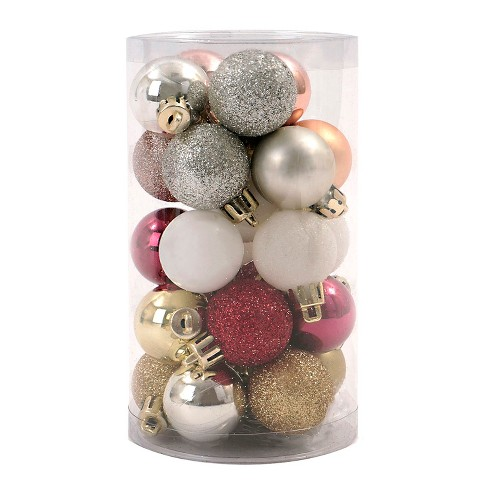 25ct Enchanted Eve Mini Christmas Ornament Set Red Gold Silver And