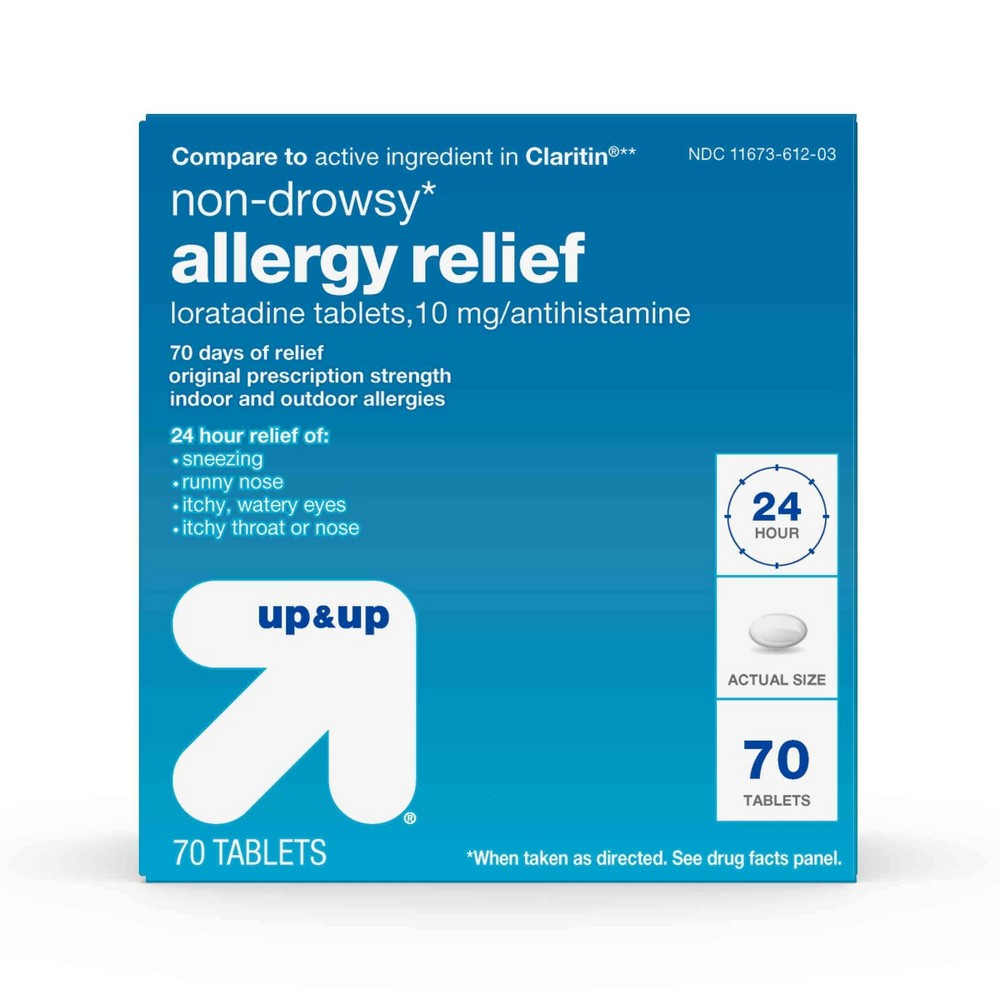Loratadine Antihistamine 10mg Non Drowsy Allergy Relief Tablets 70ct Up 38 Up 8482