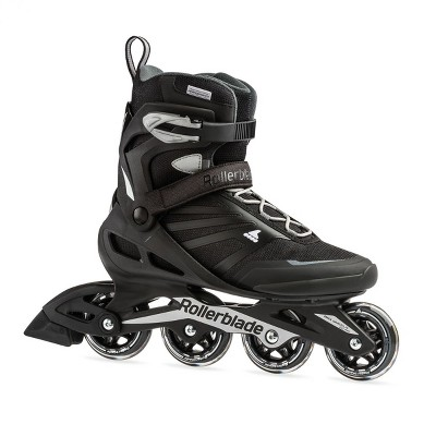 Rollerblade Zetrablade Adult Men's Beginner Recreation Fitness Inline Skates, Size 9, Black/Silver