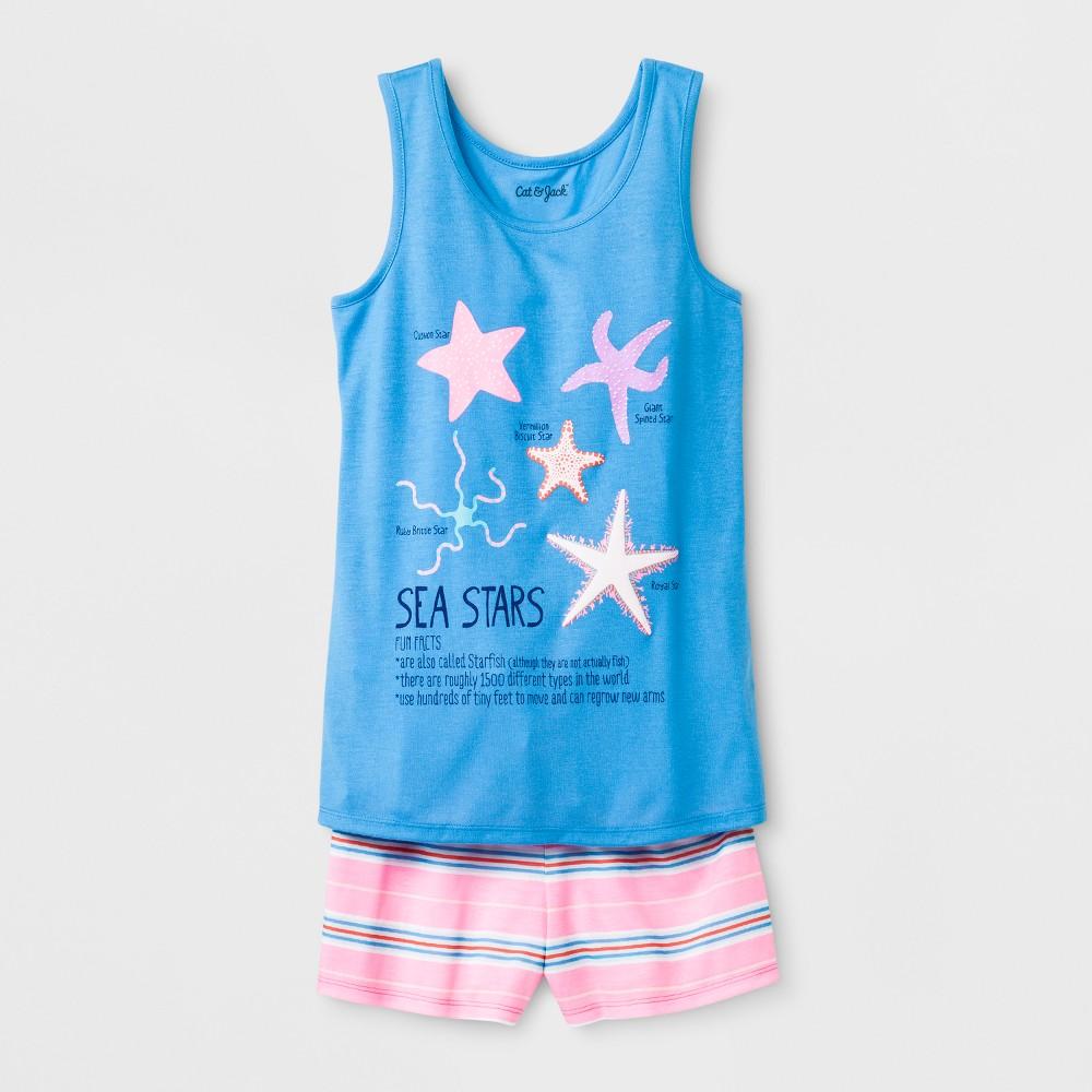Girls' Starfish Print Pajama Set - Cat & Jack Blue L