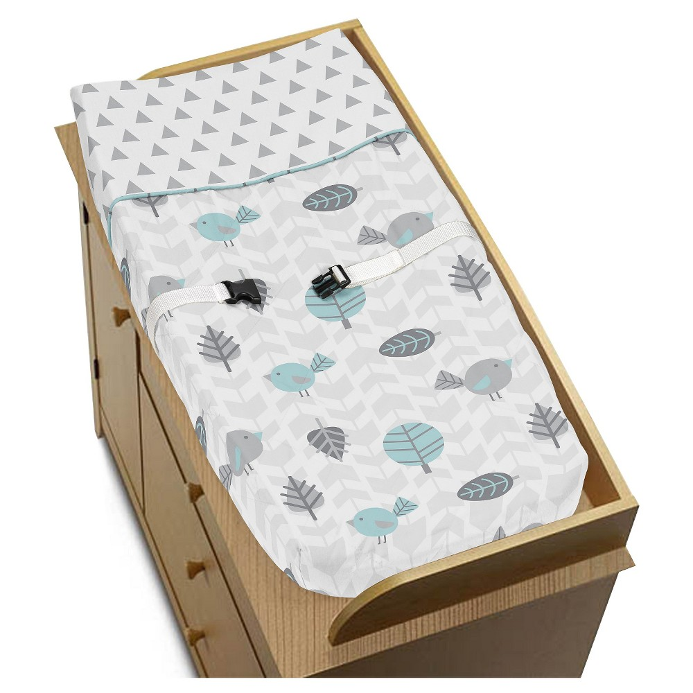 Sweet Jojo Designs Earth and Sky Changing Pad Cover - Gray