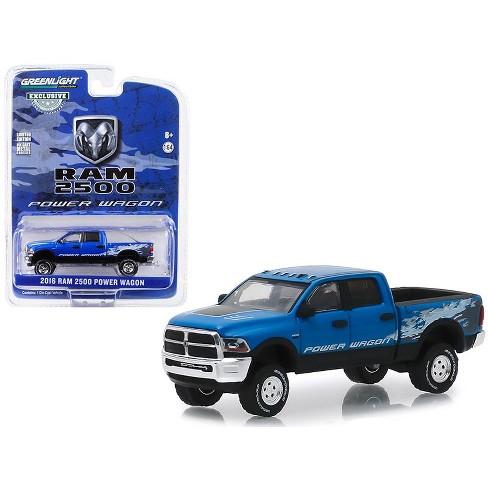 Dodge 2016 Truck >> 2016 Dodge Ram 2500 Power Wagon Pickup Truck Blue Streak Pearlcoat Hobby Exclusive 1 64 Diecast Model Car By Greenlight
