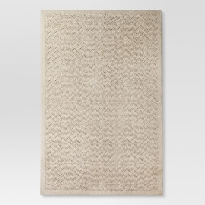 6'6 X10' Solid Area Rug Khaki - Threshold™