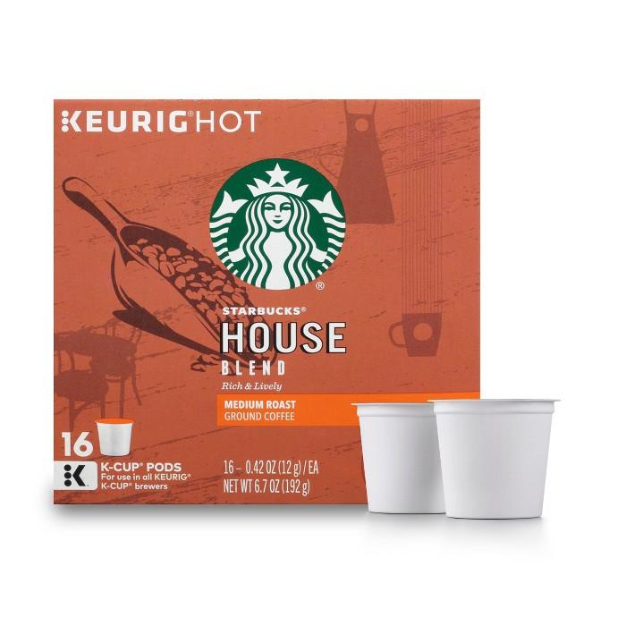 Starbucks House Blend Medium Roast Coffee - Keurig K-Cup Pods - 16ct - image 1 of 5