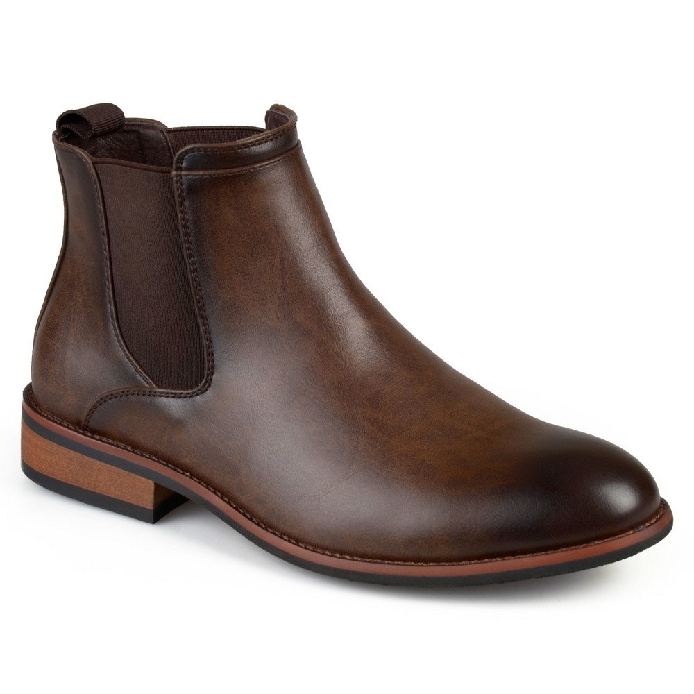 Men's Vance Co. Landon Round Toe High Top Dress Boots - Brown 8