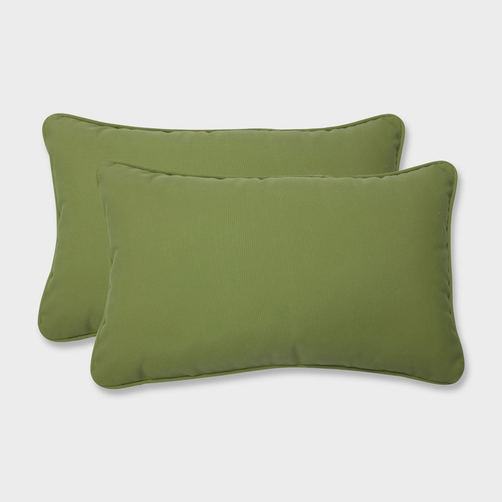 2pk Colefax Pesto Rectangular Throw Pillows Green Pillow Perfect