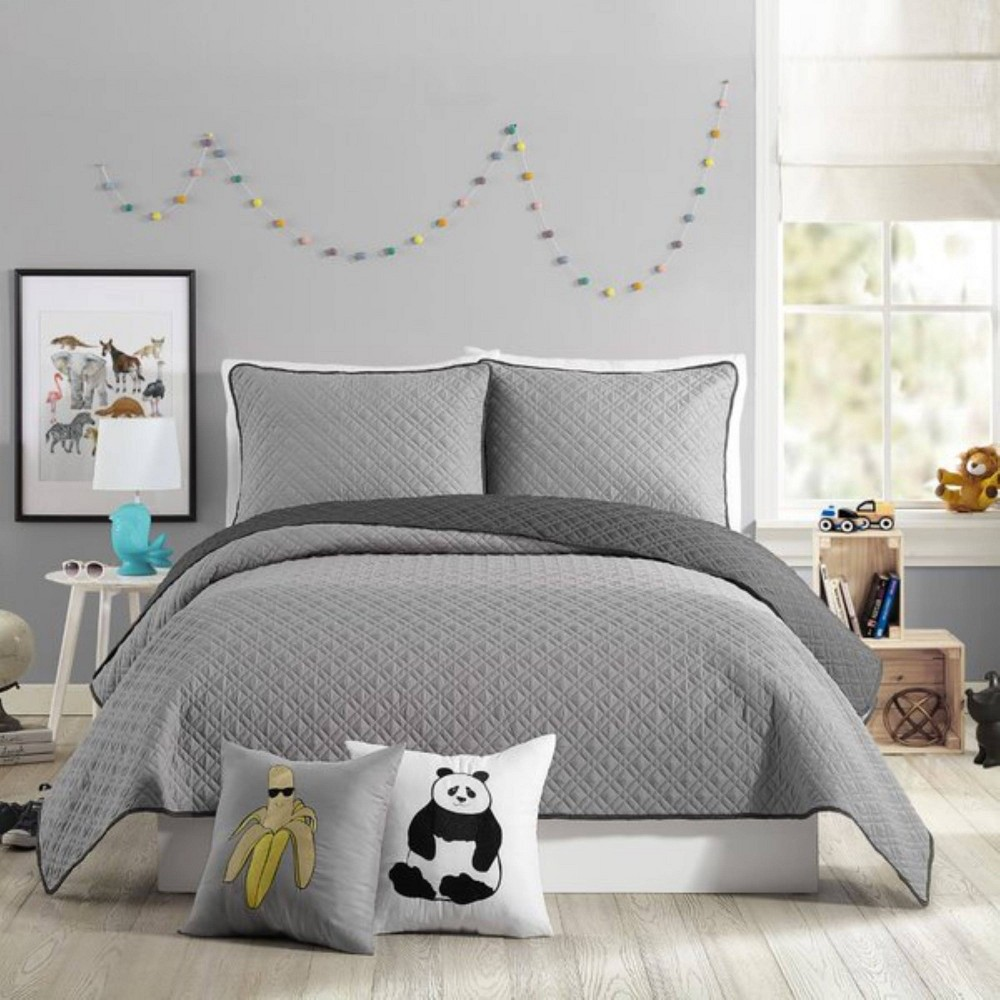 Image of 2Pc Twin Coty Quilt Set Gray - Urban Playground