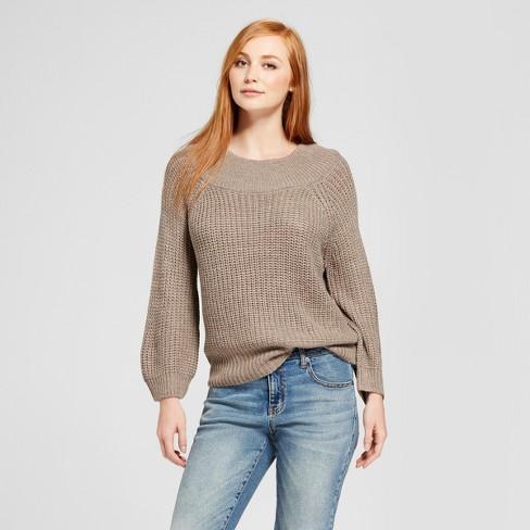 be6ff33999 Women s Marilyn Off The Shoulder Pullover Sweater - Nitrogen Tan ...