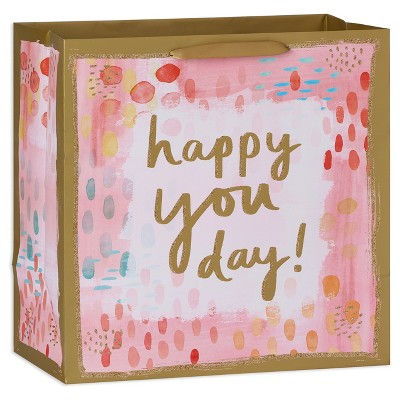 Large Happy You Day Watercolor Gift Bag - Spritz™