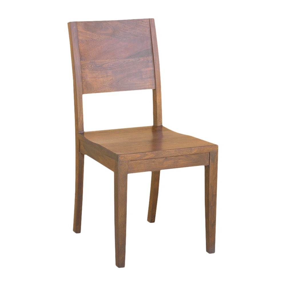 Acacia Wood Solid Dining Chairs - (Set of 2) - Timbergirl, Brown
