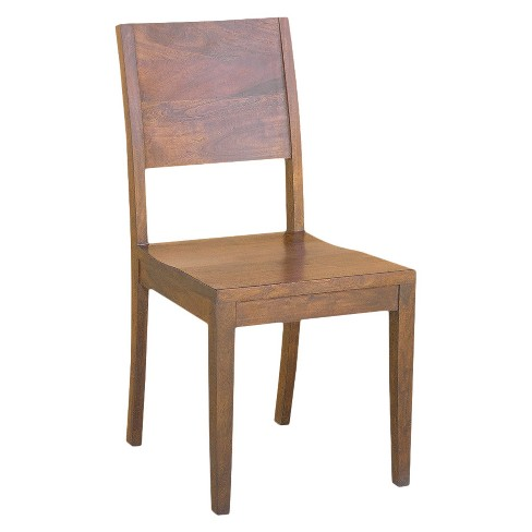 Acacia Wood Solid Dining Chairs Set Of 2 Timber