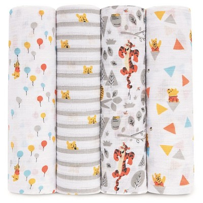 Aden® by Aden + Anais® Muslin Swaddle - 4pk - Disney - Winnie the Pooh