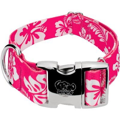 Country Brook Petz® 1 1/2 Inch Premium Pink Hawaiian Dog Collar