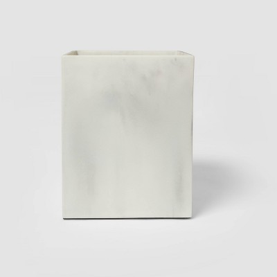 Resin Bathroom Wastebasket White - Project 62™