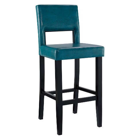 Admirable 30 Linon Vega Faux Leather Barstool Blue Unemploymentrelief Wooden Chair Designs For Living Room Unemploymentrelieforg