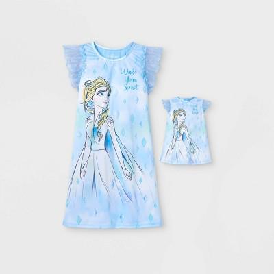 Girls' Frozen Doll & Me Dorm Nightgown - Blue