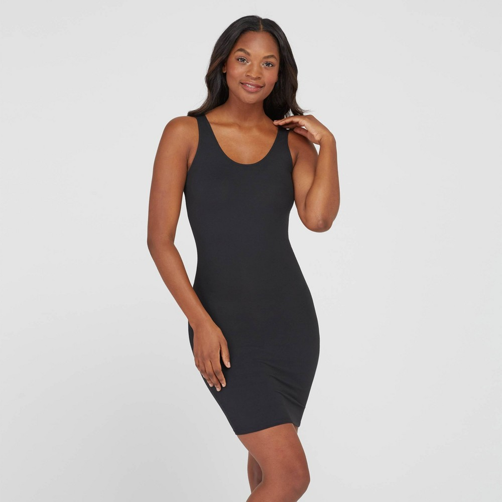 Assets By Spanx Women S Shaping Tank Slip Very Black L
