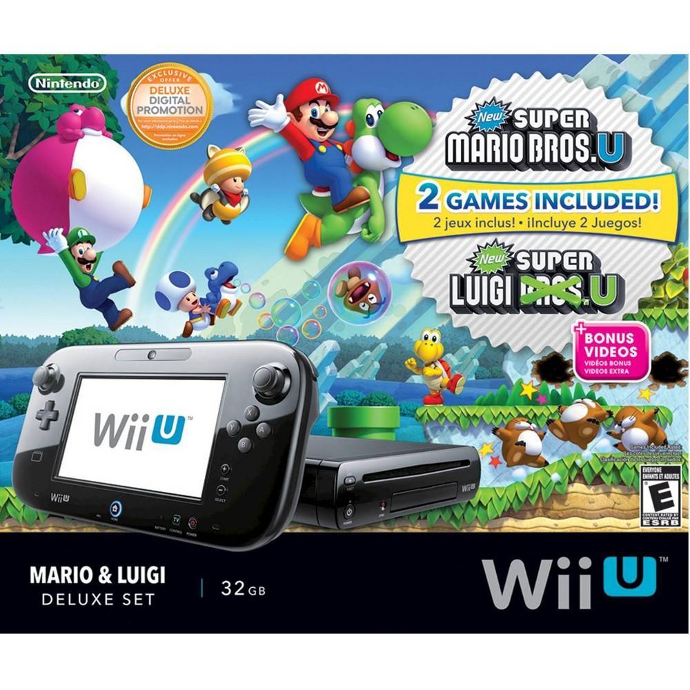 Nintendo Wii U 32GB with Mario U and Luigi U (Nintendo Wii U) Nintendo Wii U 32GB with Mario U and Luigi U (Nintendo Wii U) Color: Black. Gender: unisex.