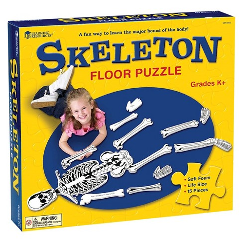 Learning Resources Skeleton Floor Puzzle 15pc - image 1 of 4