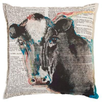 Rizzy Home Animal Throw Pillow Gray