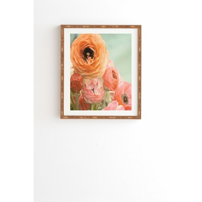 Bree Madden Spring Ranunculus Framed Wall Art 19 X 22 4 Brown Deny Designs Target