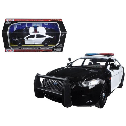 2013 Ford Police Car Interceptor Unmarked Black/White 1/24 Diecast Model Car by Motormax - image 1 of 1