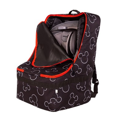 Disney Baby J.L. Childress Ultimate Padded Backpack Car Seat Travel Bag Mickey Black