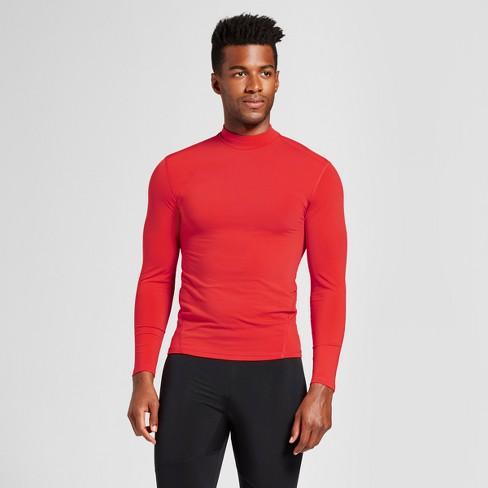 1a06291d5617 Men's Long Sleeve Mock Neck Compression Shirt - C9 Champion® Scarlet Red M  : Target