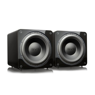 """SVS SB-3000 13"""" Subwoofer with 800W RMS, 2,500W Peak Power, Sealed Cabinet - Pair (Piano Gloss Black)"""