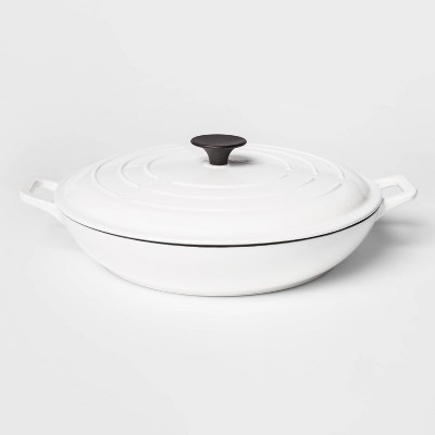 3.5qt Round Everyday Pan White - Threshold™