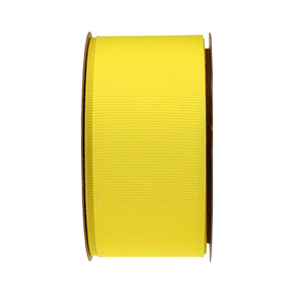 Yellow Grosgrain Fabric Ribbon - Spritz