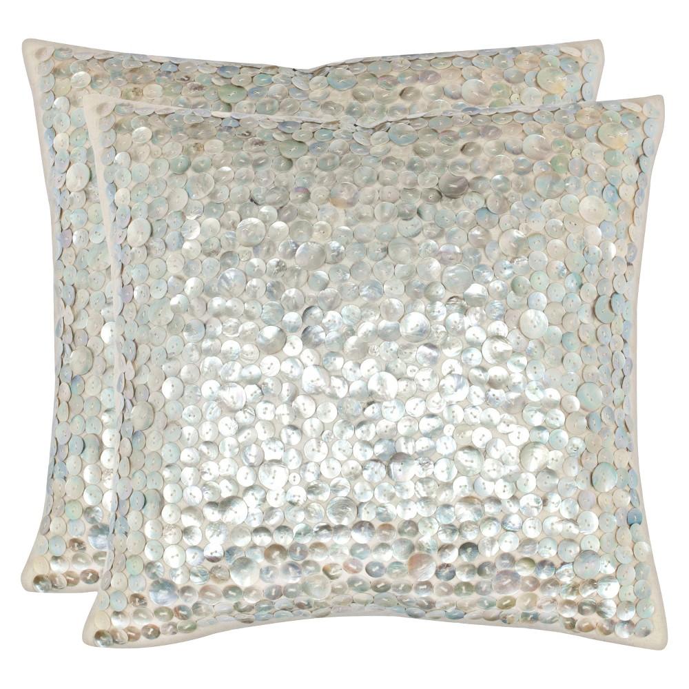 Silver Throw Pillow 2 Pack - Safavieh